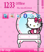 Kitty pinky es el tema de pantalla