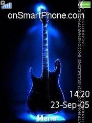 Neon Guitar 01 es el tema de pantalla