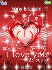 Heart Clock 01 es el tema de pantalla