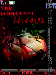 Red Car Clock theme screenshot