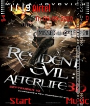 Resident Evil Afterlife ND theme screenshot