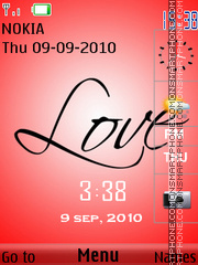 Love With Clock theme screenshot