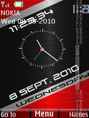 Metal Wash Clock theme screenshot