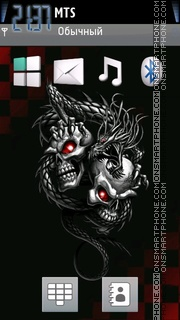 Skulls 334 theme screenshot