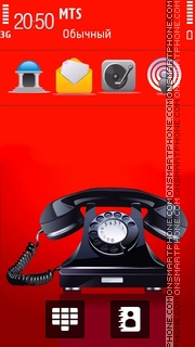 Old Phone es el tema de pantalla