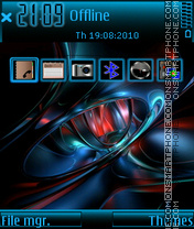 Blue red abstract theme screenshot