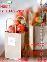 Скриншот темы Strawberry