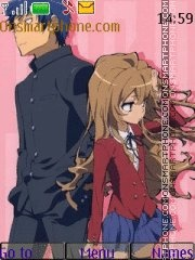 ToraDora!! tema screenshot