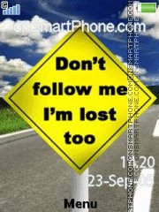 Dont Follow Me 01 theme screenshot