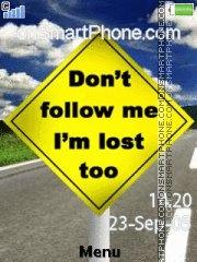 Скриншот темы Dont Follow Me 01