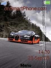 Скриншот темы Bugatti Veyron Super