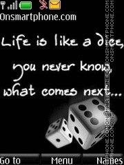 Life is like a dice Theme-Screenshot
