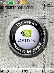 Nvidia With ringtone theme screenshot