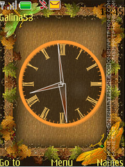 Autumn clock anim theme screenshot