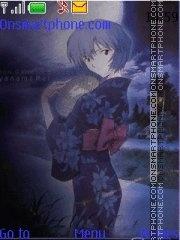 Скриншот темы Rei Ayanami festival