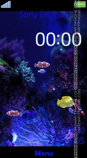 Aquarium SWF Clock es el tema de pantalla