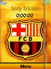 Barcelona Logo Clock theme screenshot