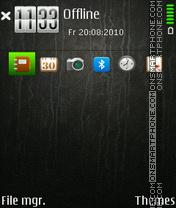 Leather Black theme screenshot