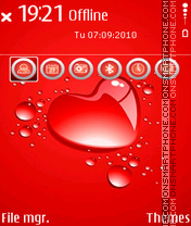 Love Drops theme screenshot