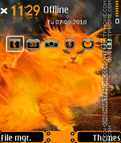 Cat with fire theme screenshot