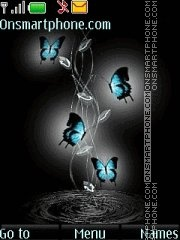 Black&Blue Butterfly theme screenshot