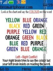 Capture d'écran Mind colour thème