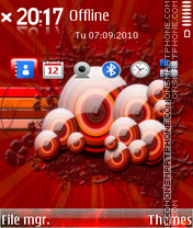 Red Vector theme screenshot