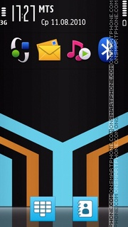 Shaped Stripes tema screenshot