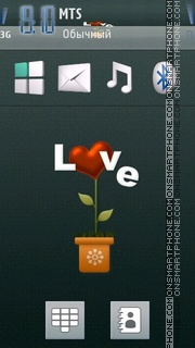 Love Plant tema screenshot