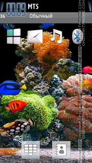 Aquarium with Fishes theme screenshot