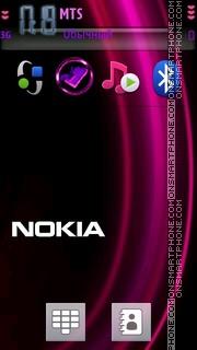 Purple Nokia 01 es el tema de pantalla