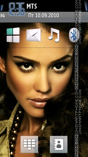Jessica Alba 23 theme screenshot