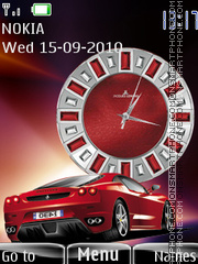 Ferrari Clock 01 theme screenshot