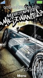 Nfs Most Wanted 12 es el tema de pantalla
