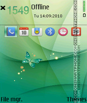 Butterflly abstract tema screenshot