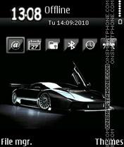 Скриншот темы Black lamborghini 01