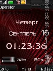 Clock indicators red theme screenshot