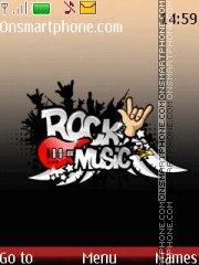 Rock Music Mp3 theme screenshot