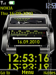 Digital Stylish Clock theme screenshot