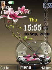 Flower Dual Clock Theme-Screenshot