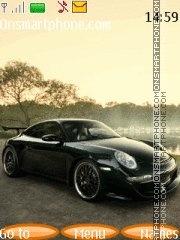 Скриншот темы Black Porsche