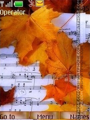 Melodies of autumn theme screenshot