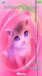 Cute Cat 06 es el tema de pantalla
