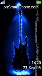 Neon Guitar 02 es el tema de pantalla