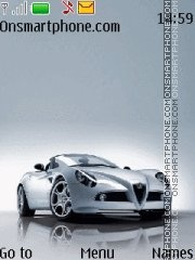Alfa Romeo 8C Spyder theme screenshot