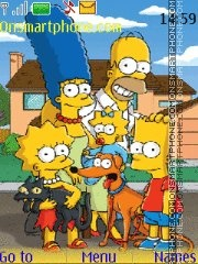 The Simpsons Family theme screenshot