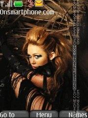 Miley Cyrus 15 theme screenshot