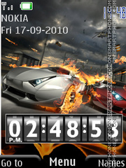 Amazing Car & Clock theme screenshot