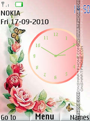 Flower Clock 03 theme screenshot