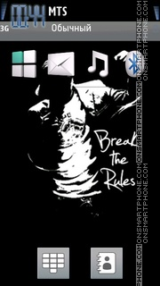 Break The Rules es el tema de pantalla